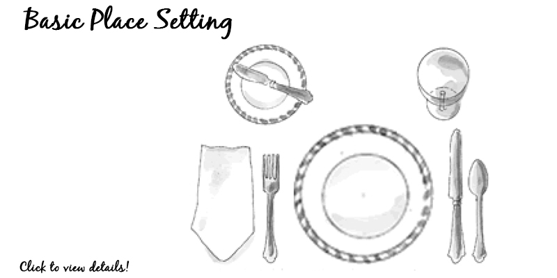 formal table setting layout  - 100 images