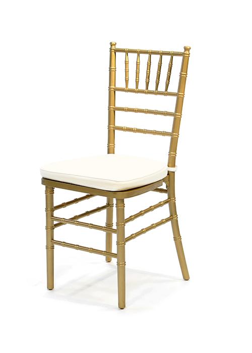 Ballroom Chairs Party Rentals San Diego – Gold Chair Cushions