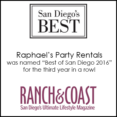 Party Rentals Raphaels Com San Diego Parties