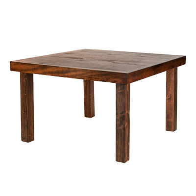 Borrego Tables 4'x4' Wood  www.Raphaels.com - Call to place your rental order today! 858-689-7368 - www.raphaels.com