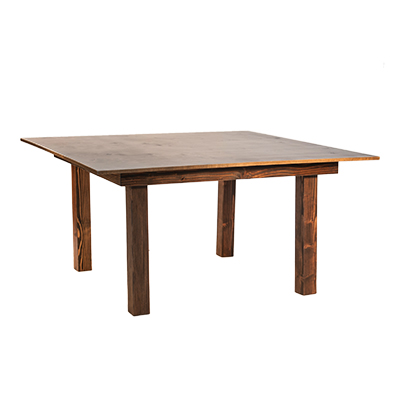 "Borrego Top 60""x60"" Wood  www.Raphaels.com - Call to place your rental order today! 858-689-7368 - www.raphaels.com"
