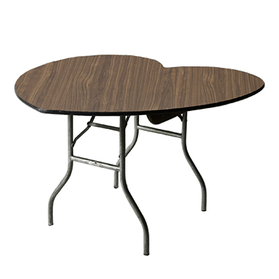 Heart-Shaped Table Wood  www.Raphaels.com - Call to place your rental order today! 858-689-7368 - www.raphaels.com