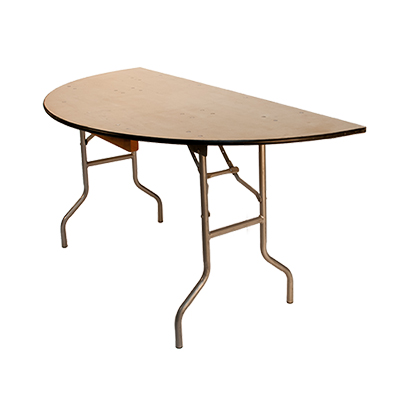 "Table End 60"" Half Round  www.Raphaels.com - Call to place your rental order today! 858-689-7368 - www.raphaels.com"