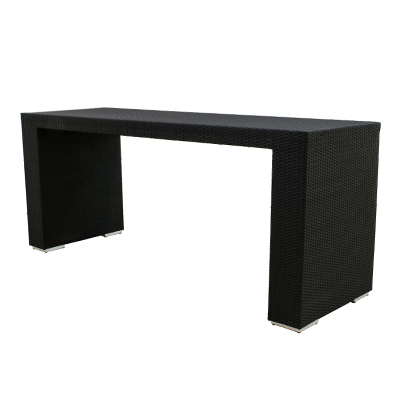 Rattan Lana'i Tall Table Black, 8.5' Long  www.Raphaels.com - Call to place your rental order today! 858-689-7368 - www.raphaels.com