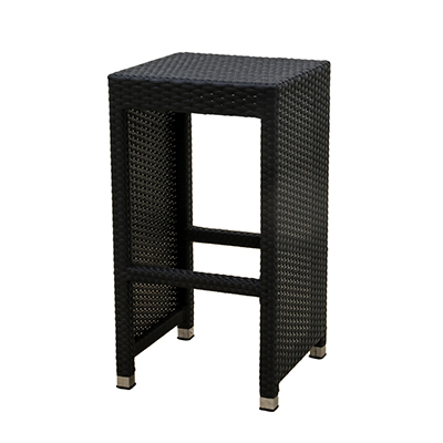 Rattan Lana'i Barstool Black, Square  www.Raphaels.com - Call to place your rental order today! 858-689-7368 - www.raphaels.com