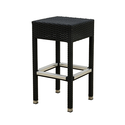 Rattan Lana'i Barstool Black, Metal Leg  www.Raphaels.com - Call to place your rental order today! 858-689-7368 - www.raphaels.com