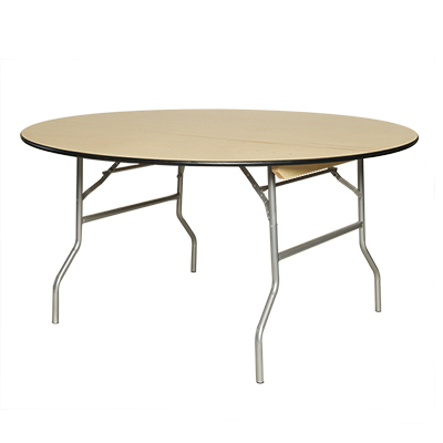 "Round Table, Wood 60"" dia. Seats 8-10  www.Raphaels.com - Call to place your rental order today! 858-689-7368 - www.raphaels.com"