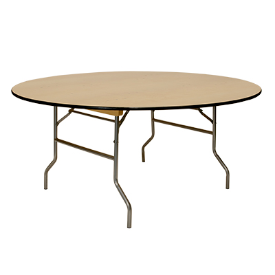 "Round Table, Wood 66"" dia. Seats 9-11  www.Raphaels.com - Call to place your rental order today! 858-689-7368 - www.raphaels.com"