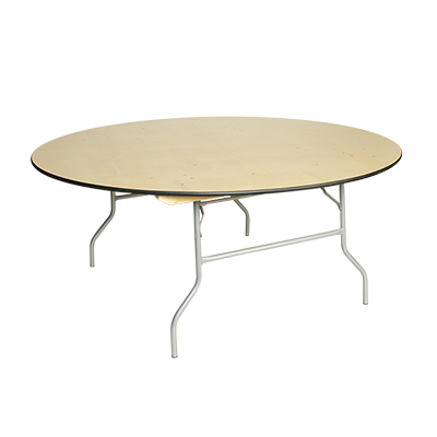 "Round Table, Wood 72"" dia. Seats 10-12  www.Raphaels.com - Call to place your rental order today! 858-689-7368 - www.raphaels.com"