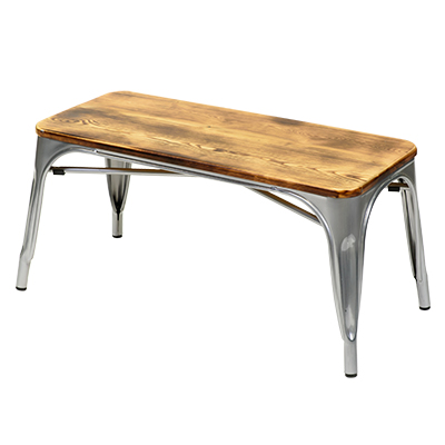 engrom Coffee Table Gunmetal Grey w/ Wood Top  www.Raphaels.com - Call to place your rental order today! 858-689-7368 - www.raphaels.com