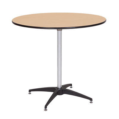 "Round Table, Wood 36"" dia. Seats 4-6  www.Raphaels.com - Call to place your rental order today! 858-689-7368 - www.raphaels.com"