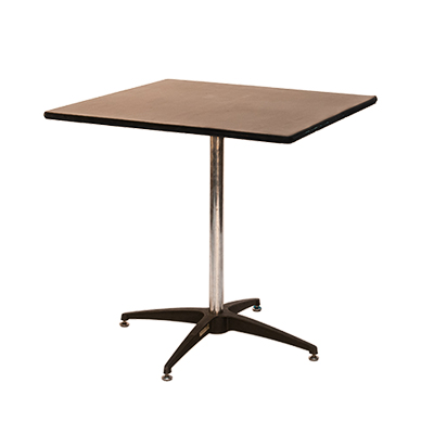 "Square Table, Formica 36"" x 36"" Seats 4  www.Raphaels.com - Call to place your rental order today! 858-689-7368 - www.raphaels.com"