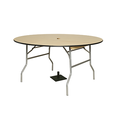 "Round Patio Table w/base 60"" Dia. Seats 8-10  www.Raphaels.com - Call to place your rental order today! 858-689-7368 - www.raphaels.com"