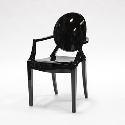 Black Phantom Chair With Armrests  www.Raphaels.com - Call to place your rental order today! 858-689-7368 - www.raphaels.com