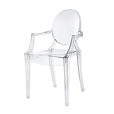 Clear Phantom Chair With Armrests  www.Raphaels.com - Call to place your rental order today! 858-689-7368 - www.raphaels.com