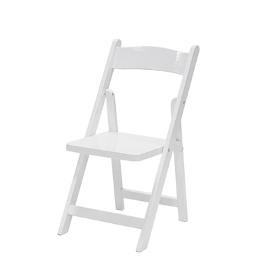 Folding Children's Chair Wood, White  www.Raphaels.com - Call to place your rental order today! 858-689-7368 - www.raphaels.com