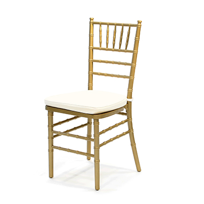 Gold Chiavari Chair w/Ivory Cushion  www.Raphaels.com - Call to place your rental order today! 858-689-7368 - www.raphaels.com
