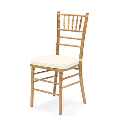 Natural Chiavari Chair w/Ivory Cushion  www.Raphaels.com - Call to place your rental order today! 858-689-7368 - www.raphaels.com