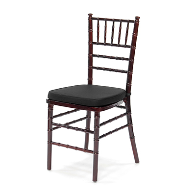Mahogany Chiavari Chair w/ Black Cushion  www.Raphaels.com - Call to place your rental order today! 858-689-7368 - www.raphaels.com