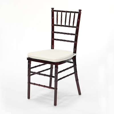 Mahogany Chiavari Chair w/ Ivory Cushion  www.Raphaels.com - Call to place your rental order today! 858-689-7368 - www.raphaels.com