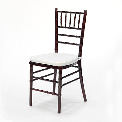 Mahogany Chiavari Chair w/ White Cushion  www.Raphaels.com - Call to place your rental order today! 858-689-7368 - www.raphaels.com