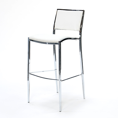 Bella Barstool White  www.Raphaels.com - Call to place your rental order today! 858-689-7368 - www.raphaels.com