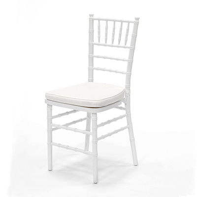 White Chiavari Chair w/ Ivory Cushion  www.Raphaels.com - Call to place your rental order today! 858-689-7368 - www.raphaels.com