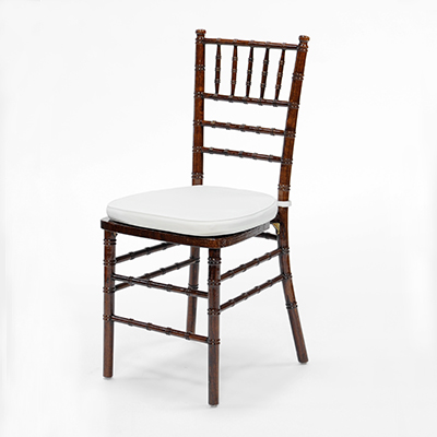 Fruitwood Chiavari Chair w/ White Cushion  www.Raphaels.com - Call to place your rental order today! 858-689-7368 - www.raphaels.com