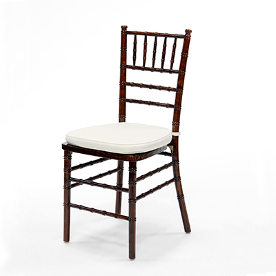 Fruitwood Chiavari Chair w/Ivory Cushion  www.Raphaels.com - Call to place your rental order today! 858-689-7368 - www.raphaels.com