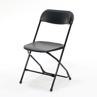 Plastic Folding Chair Black  www.Raphaels.com - Call to place your rental order today! 858-689-7368 - www.raphaels.com