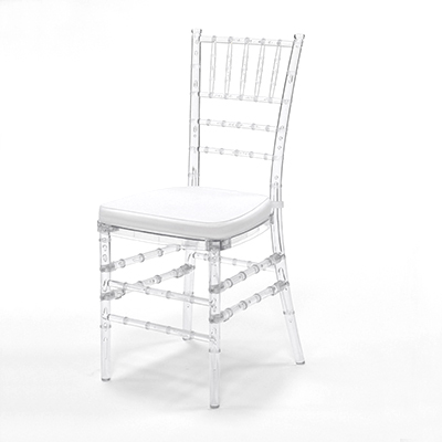 Crystal Chiavari Chair w/ White Cushion  www.Raphaels.com - Call to place your rental order today! 858-689-7368 - www.raphaels.com