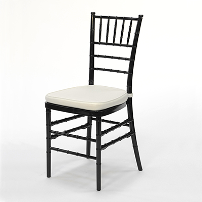 Black Chiavari Chair w/Ivory Cushion  www.Raphaels.com - Call to place your rental order today! 858-689-7368 - www.raphaels.com