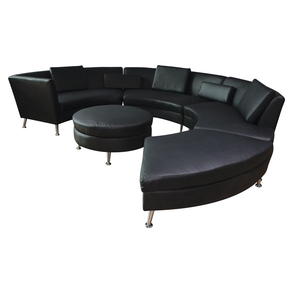 Aria Circular Sectional Black  www.Raphaels.com - Call to place your rental order today! 858-689-7368 - www.raphaels.com