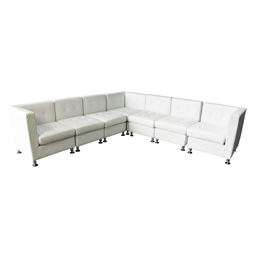 Milan Sectional White  www.Raphaels.com - Call to place your rental order today! 858-689-7368 - www.raphaels.com