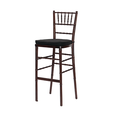 Fruitwood Chiavari Barstool Black Cushion  www.Raphaels.com - Call to place your rental order today! 858-689-7368 - www.raphaels.com