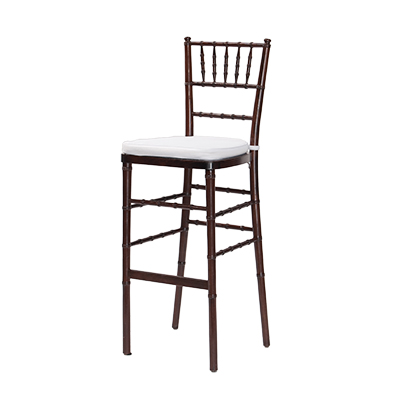 Fruitwood Chiavari Barstool White Cushion  www.Raphaels.com - Call to place your rental order today! 858-689-7368 - www.raphaels.com
