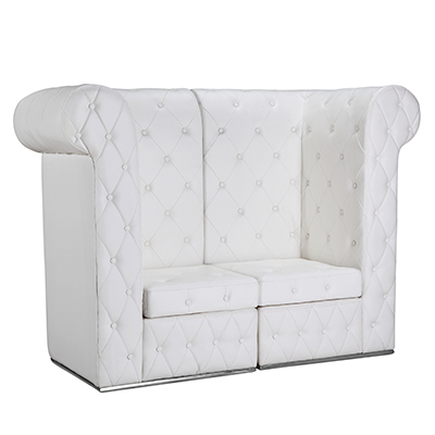 T'Amo Love Seat White  www.Raphaels.com - Call to place your rental order today! 858-689-7368 - www.raphaels.com