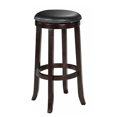Pub Style Barstool Espresso w/ Black Seat  www.Raphaels.com - Call to place your rental order today! 858-689-7368 - www.raphaels.com