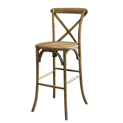 Lucca Bistro Barstool Rustic  www.Raphaels.com - Call to place your rental order today! 858-689-7368 - www.raphaels.com