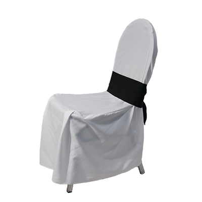 Ballroom Chair Cover White -  sash not included  www.Raphaels.com - Call to place your rental order today! 858-689-7368 - www.raphaels.com