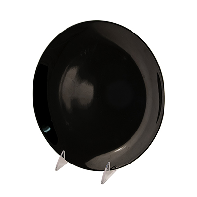 "Black Deluxe China Dinner Plate 10-1/4""  www.Raphaels.com - Call to place your rental order today! 858-689-7368 - www.raphaels.com"
