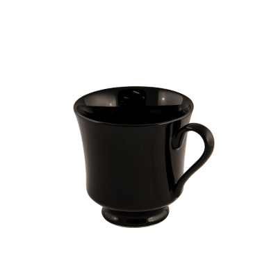 Black Deluxe China Cup  www.Raphaels.com - Call to place your rental order today! 858-689-7368 - www.raphaels.com