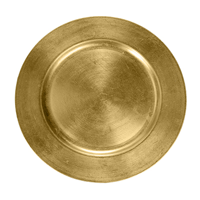 "13"" Charger Plate Gold Leaf  www.Raphaels.com - Call to place your rental order today! 858-689-7368 - www.raphaels.com"