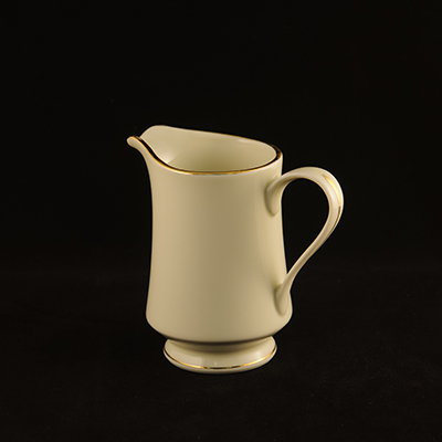 Ivory With Gold Trim China Creamer  www.Raphaels.com - Call to place your rental order today! 858-689-7368 - www.raphaels.com