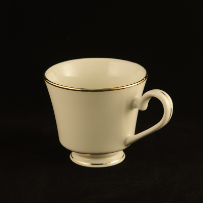 Ivory With Gold Trim China Cup  www.Raphaels.com - Call to place your rental order today! 858-689-7368 - www.raphaels.com