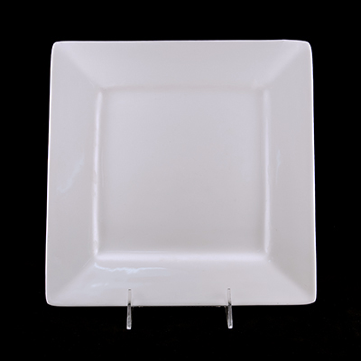 "Square White China Dinner Plate 10""  www.Raphaels.com - Call to place your rental order today! 858-689-7368 - www.raphaels.com"