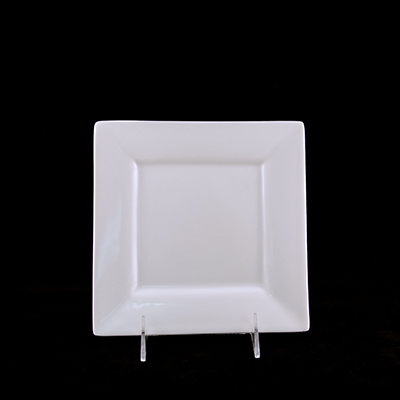 Square White China Salad Plate  www.Raphaels.com - Call to place your rental order today! 858-689-7368 - www.raphaels.com
