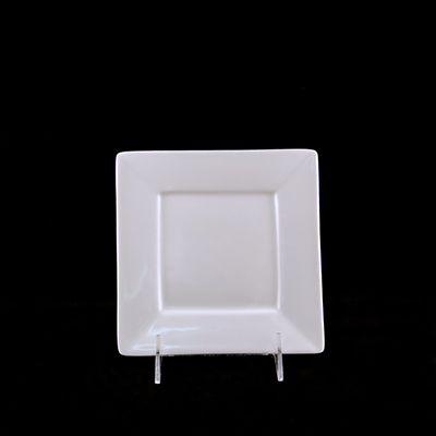 "Square White China Bread Plate 6""  www.Raphaels.com - Call to place your rental order today! 858-689-7368 - www.raphaels.com"