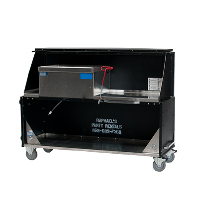 5' Portable Bar    www.Raphaels.com - Call to place your rental order today! 858-689-7368 - www.raphaels.com