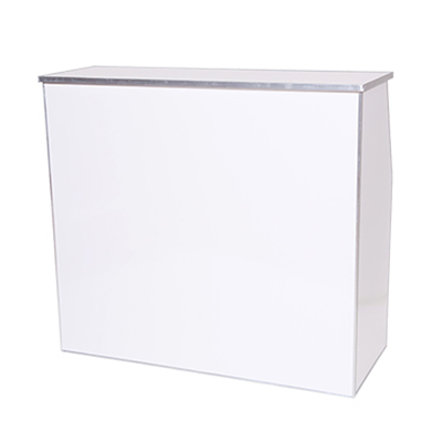 4' White Bar    www.Raphaels.com - Call to place your rental order today! 858-689-7368 - www.raphaels.com